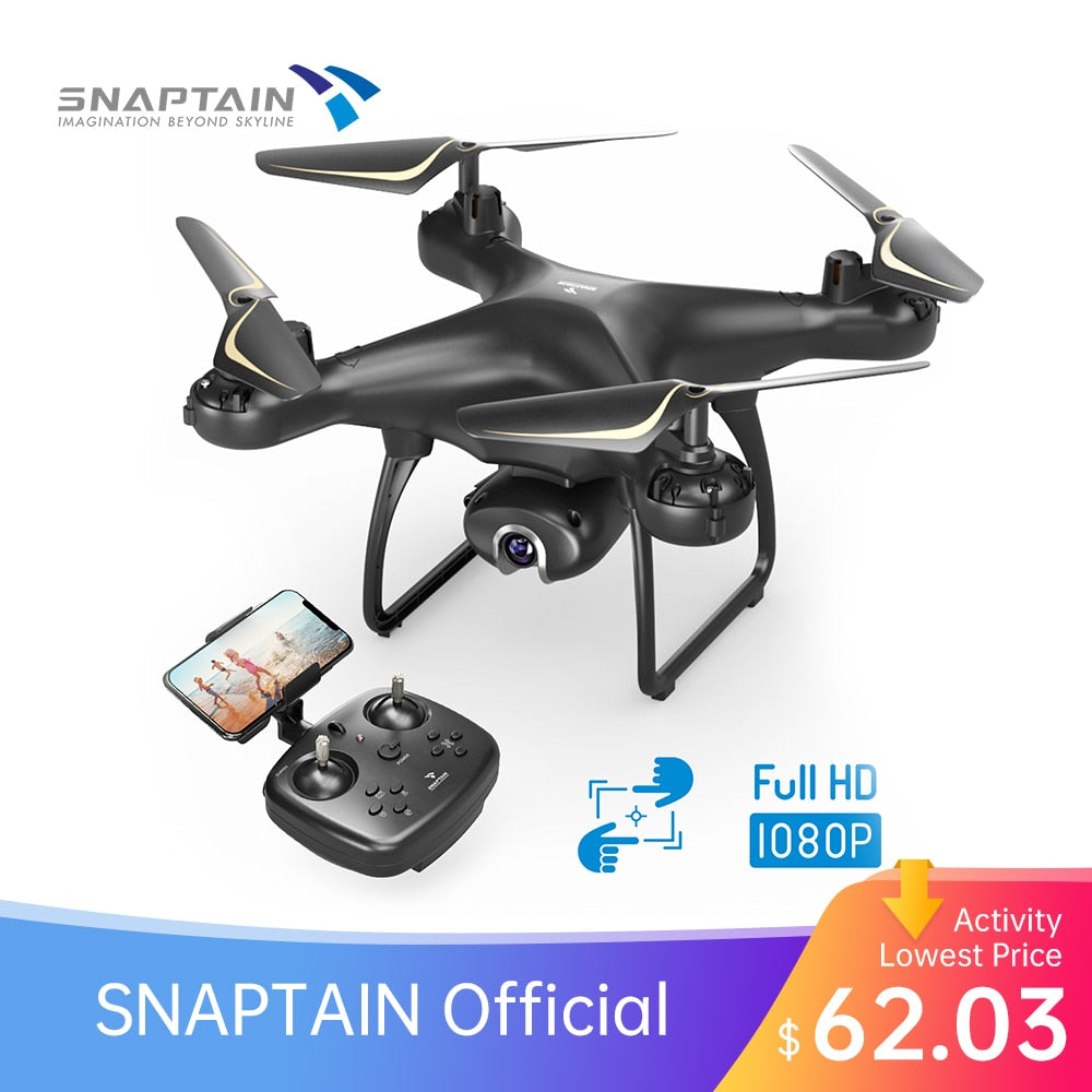 SNAPTAIN SP650 1080P Drone with Camera 1080P HD Live Video Camera Drone Voice Gesture Control  Gift for Beginners Kids Adults