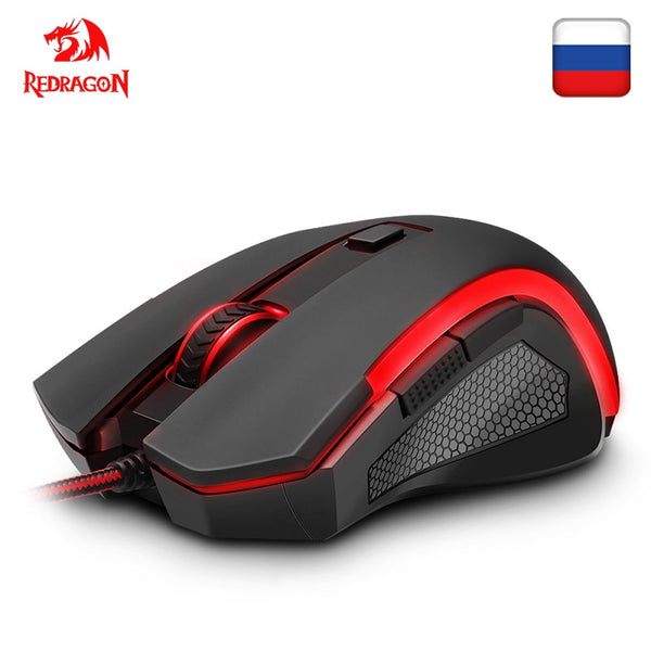 Redragon NOTHOSAUR M606 USB Wired Gaming Computer Mouse 3200 DPI 6 buttons 7 colors mice backlit REFLON pads ergonomic PC Gamer