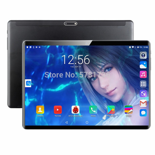 New 10 Inch Tablet PC Octa Core 6GB RAM 128GB ROM 4G LTE GPS Phone Call 2.5D Tempered Glass Google Play Tablet pc