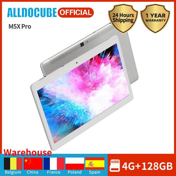 ALLDOCUBE M5X Pro Game Super Tablet 10.1 Inch IPS Display MTK X27 Deca Core 4GB RAM 128GB ROM Android 8.0 GPS Dual WIFI