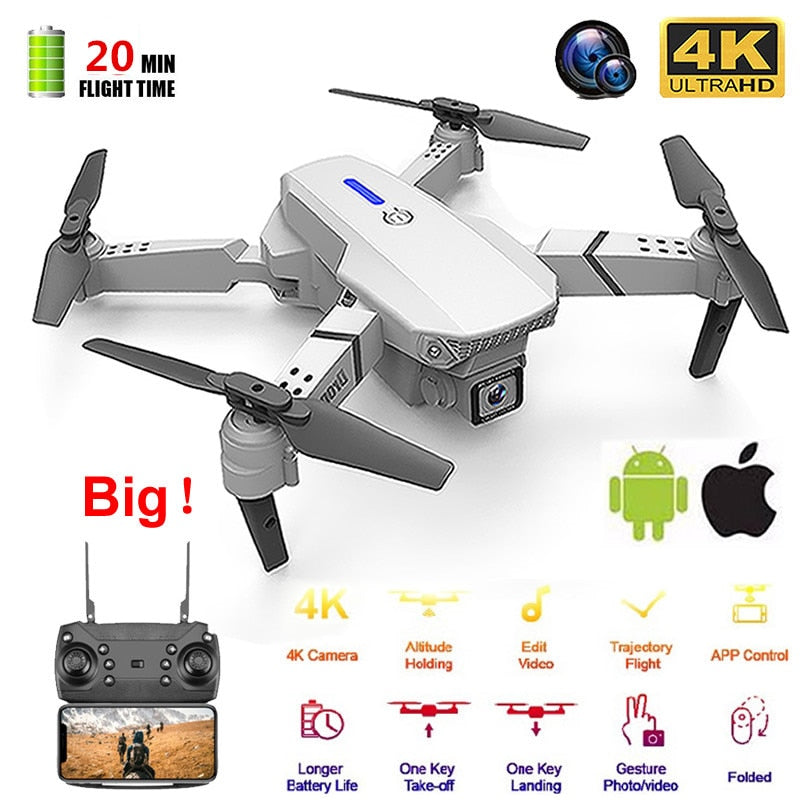 E525 drone 4k with camera 4k drones WIFI FPV RC quadcopter dron remote control helicopter 15 mins Flight time quadrocopter Toy