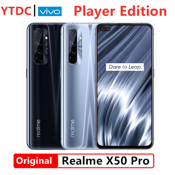 Realme X50 Pro Player Edition 6GB 128GB 5G Snapdragon 865G Processor Cell Phone UFS3.1 65W Super VOOC 180HzSampling Rate 6.44''