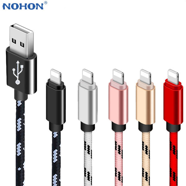 USB Charger Cable Data Cord For Apple iPhone 11 XS X XR 7 8 Plus 5 6 S 5S 6S iPad Long Short Fast Charge Mobile Phone Wire 2M 3M