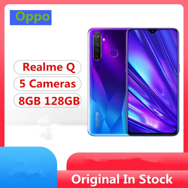 DHL Fast Delivery Realme Q Cell Phone Snapdragon 712 Android 9.0 6.3