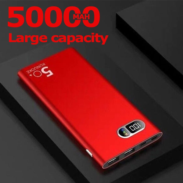 50000mAh Power Bank Portable Phone Charger for Xiaomi Samsung IPhone 2 USB Large Capacity Digital Display Outdoor Powerbank