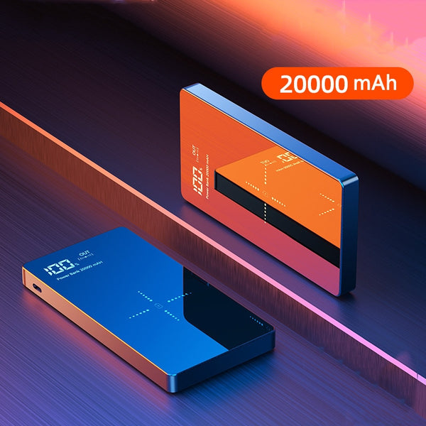 Portable Qi Wireless Charger 20000mAh Power Bank USB Type C External Battery Powerbank for iPhone 11 Samsung S8 Mobile Poverbank