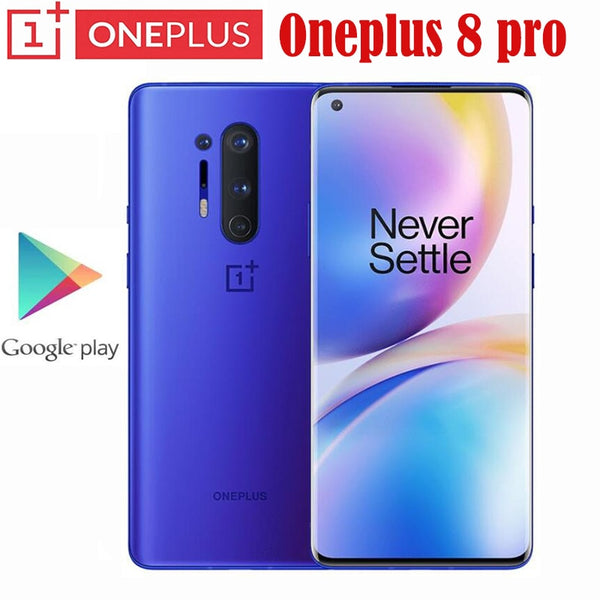 Oneplus 8 Pro 5G Smartphone Snapdragon 865 8G 128G 6.87'' 120Hz Fluid Display 48MP Quad 513PPI 30W Wireless Charging Global Rom