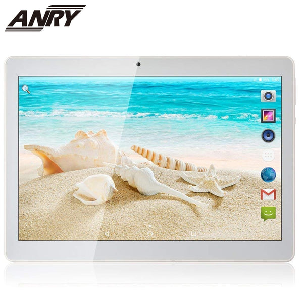 ANRY 10,1 Inch Tablet PC MTK6737 Quad Core Processor 4G Lte Phone Call Phablet 32GB ROM 2 GB RAM Metal Cover Black/Silver/Gold