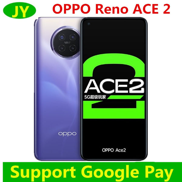 OPPO Reno Ace 2 5G Mobile Phone 6.5 inch 90Hz Snapdragon 865 40W AriVOOC 10W Reverse charge Link Boost 2.0 4000mAh