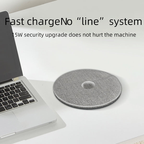 GENAI Wireless Charger 5W 10W 15W Qi Quick Wireless chargers Automatic voltage switching for iPhone Samsung Xiaomi (gray)