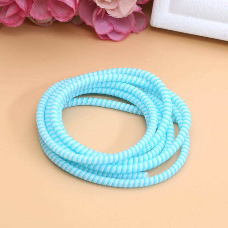 8 Colors 140cm USB Charging Data Line Cable Protector Wire Cord Protection Wrap Cable Winder Organizer For Mobile Phone