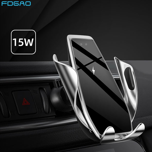15W Fast Qi Wireless Car Charger Automatic Clamping for iPhone 11 Pro XS XR X 8 Samsung S20 S10 S9 Air Vent Mount Phone Holder