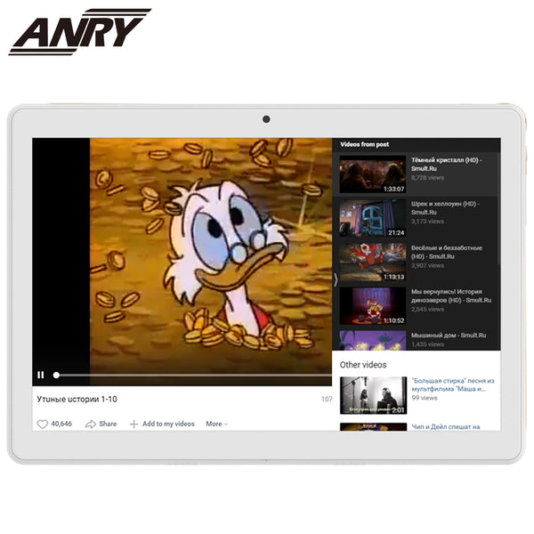 ANRY RS20 10 Inch Tablet 2 GB RAM 32GB ROM Portablet Android 8.1 Phablet 4G Phone call Tablet