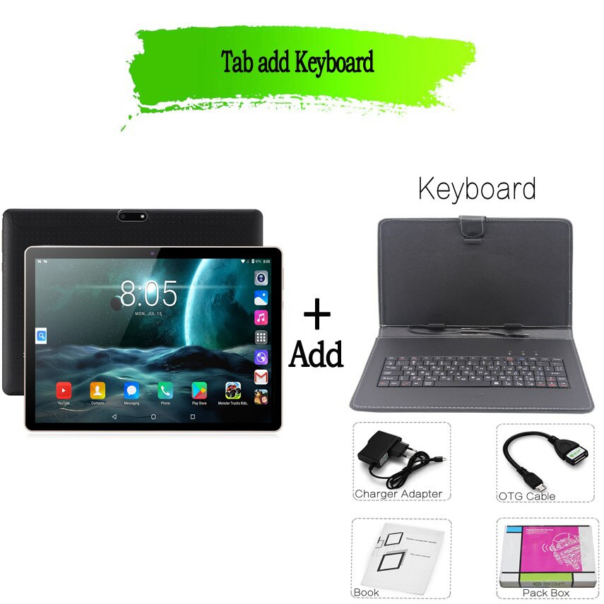 New Tablet Phone WiFi Bluetooth SIM Card Android 7.0 Google Play GPS 2G 3G Tablet Pc Tempered Glass Mobile Phone Call