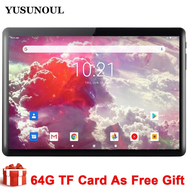 2021 New Play Store free shipping Tablette 10 inch Tablet Pc Android 9.0 3G Phone Call Dual SIM Cards WiFi GPS Bluetooth 10.1