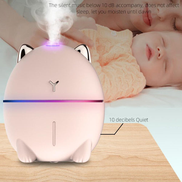 Household USB Humidifier Small Bear Humidifier Mist Air Diffuser Aroma Humidifier Purifier D2N6