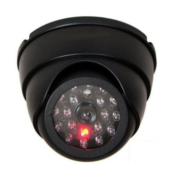Dummy Dome Fake Camera Fake iP Security Vedio with Flashing LED Light Home Store Security CCTV Video Surveillance Accessories (black)