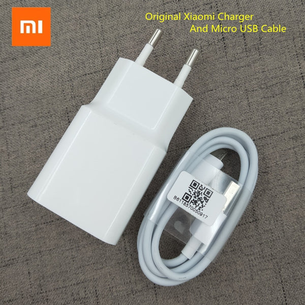 Xiaomi USB Charger EU plug adapter 5V2A Original Travel Charging Micro usb cable For Redmi 7 7A 6 6A 5A 4A 4X note 6 pro/A2 lite