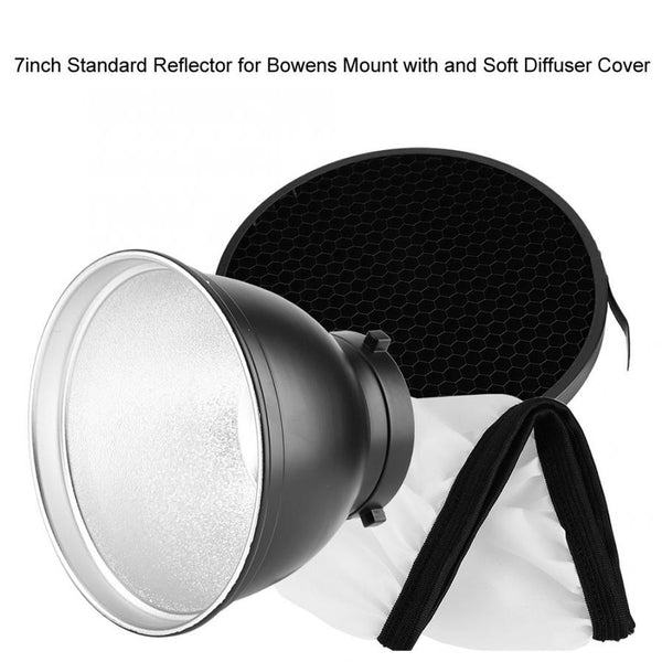 7inch Standard Reflector Kit for Bowens Mount and Soft Diffuser Cover Studio Reflector Accessories Hot Sale