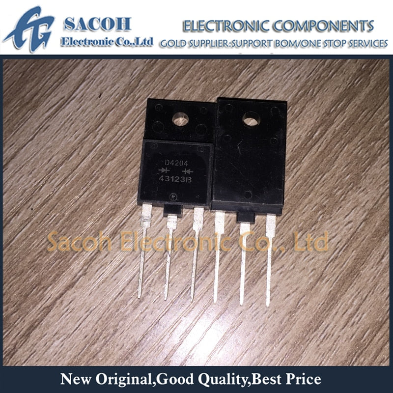 Free Shipping 10Pcs FMD-4204 D4204 TO-3PF 20A 400V Silicon Rectifier Diode