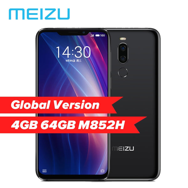 Global Version Meizu X8 4GB RAM 64GB ROM Mobile Phone Snapdragon 710 Octa Core 6.15'' 2220x1080P Front 20MP Camera Fingerprint (Black Bundle 1)