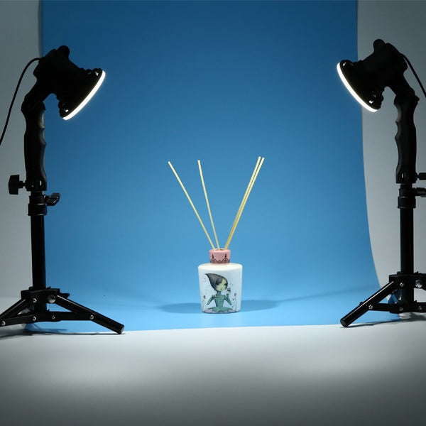 2pc LED Lamp Desktop Photography Studio Light Bulb Portrait Soft Box Fill Light With 2pc 37CM Light Stand Tripod Photo YouTube