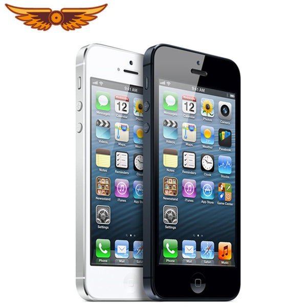 Original Factory Unlocked Apple iPhone 5 Dual Core 8MP WCDMA 16GB/32G/64GB ROM 1GB RAM IOS 7 4.0``Smartphone Free Shipping