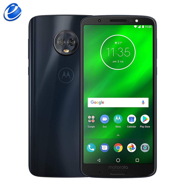 Unlocked Original Motorola Moto G6 Plus XT1926 4GB RAM 64GB ROM 5.9 inch Octa core Qualcomm Dual 12 MP 4G LTE Cell Phone