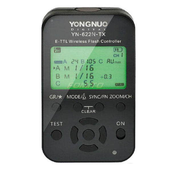 Yongnuo YN-622N-TX YN622N-TX Wireless TTL Flash Controller Transmitter for Nikon camera with LCD