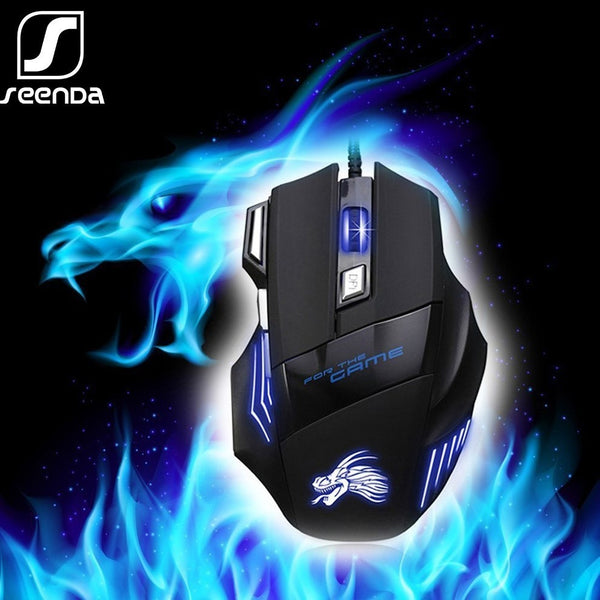 Professional Wired Gaming Mouse 7 Button 5500 DPI LED Optical USB Computer Mouse Ergonomics Gamer Mice X8 for Laptop PC Game