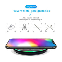 10W Qi Standard Glowing Magic Array Wireless Mobile Phone Charger Charging Pad for iPhone 11 11Pro X XR XSMAX Samsung S9