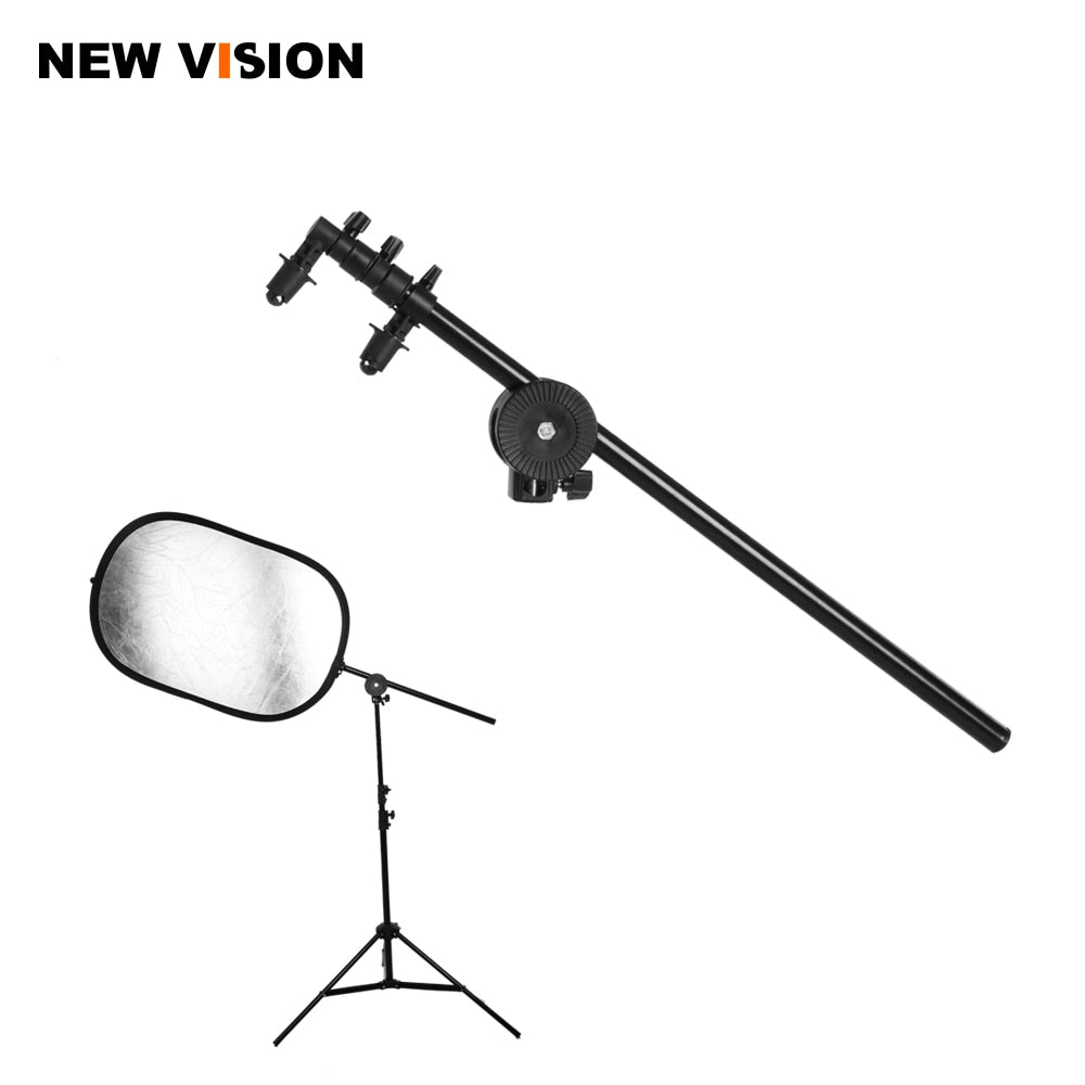 PRO Studio Photo Holder Bracket Swivel Head Reflector Disc Arm Support 26