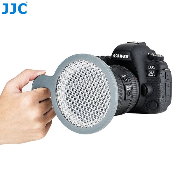 JJC 95mm Hand-held White Balance Filter Gray Card for Canon Nikon Sony Fuji Olympus Panasonic DSLR SLR Mirrorless Camera Lens