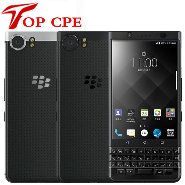Unlocked Original BlackBerry Keyone 4.5' Bar Cellphone 3GB RAM 32GB ROM 8.0MP camera 1080P 4G Wifi Octa Core Mobile Cell Phone (Silver 32GB)