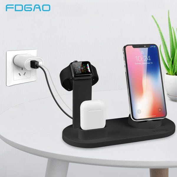Charging Dock Station For iPhone 11 Pro X XS XR MAX 7 8 Plus Apple Watch Airpods USB Charger Stand Holder Base For Samsung S9 S8
