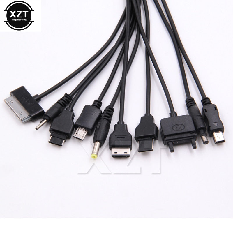 new 1pcs 10 in 1 Micro USB multi Charger usb cables for mobile phones cord for LG KG90 SAMSUNG Sony phone
