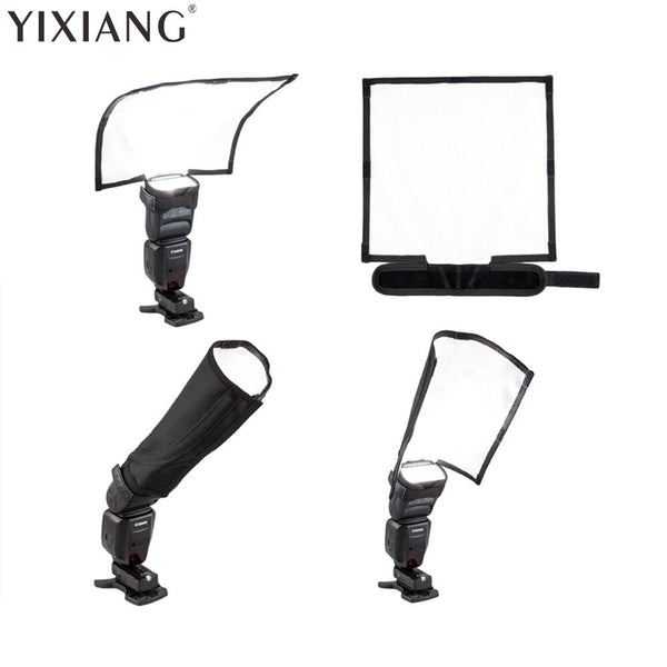 YIXIANG Foldable Universal Flash Diffuser Snoot Reflector Lambency For Canon Nikon
