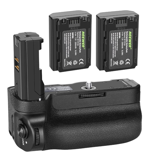 Neewer Vertical Battery Grip for Sony A9 A7III A7RIII Cameras,Replacement for Sony VG-C3EM+7.2v 2280mAh 16.4Wh Li-ion Battery