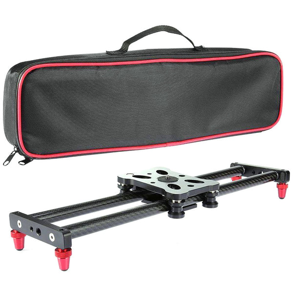 40CM Adjustable Carbon Fiber DSLR Camera Slider Shooting Stabilizer Rail for Canon Sony Video Photography Dolly Track Slider
