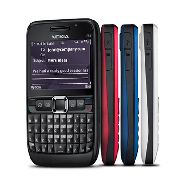 100% Original NOKIA E63 3G Unlocked Mobile Phone Wifi Bluetooth QWERTY Keyboard Cellphone & Arabic Russian Keyboard