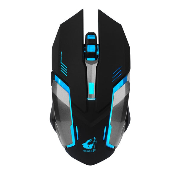 Professional Ergonomic Gaming Mouse Rechargeable X7 Optical Wireless Mouse Silent LED Backlit USB 20A Drop Shipping