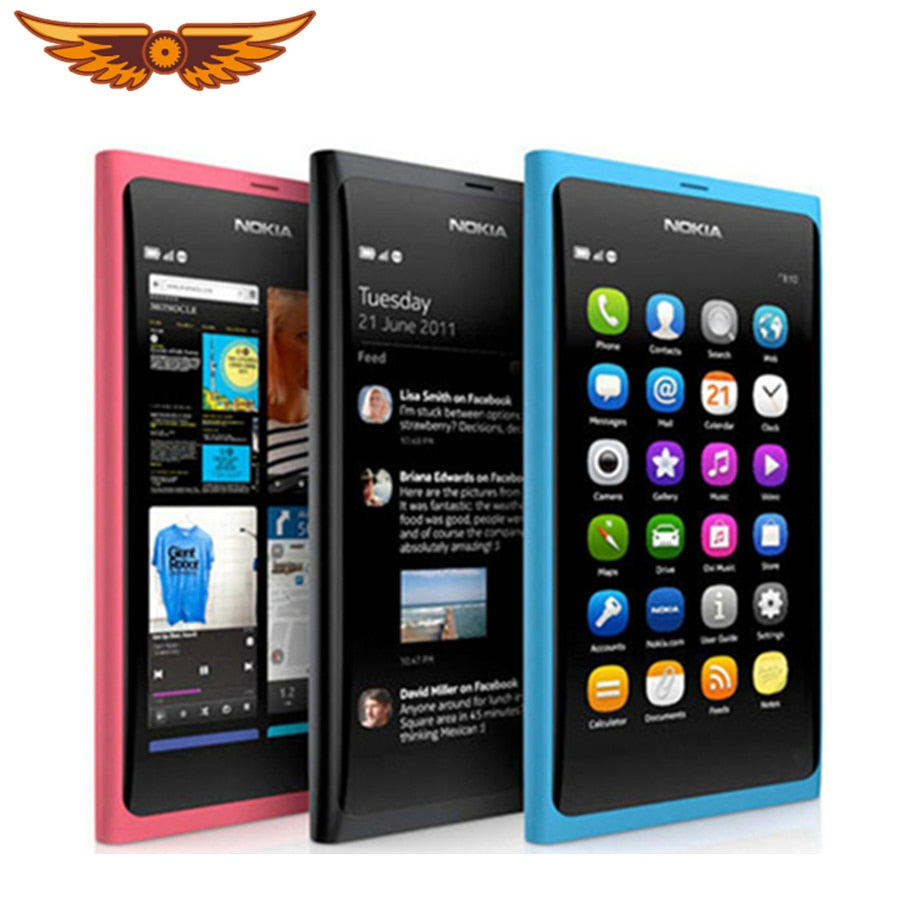 N9 Original Unlocked Nokia N9 8MP 16GB ROM 1GB RAM GPS 3G Bluetooth WIFI Cellphones Free Shipping