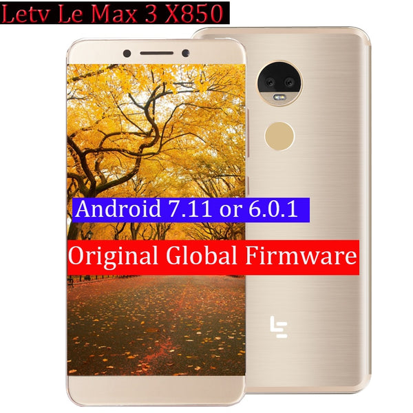 New  LeEco LeTV Le Max 3 X850 5.7 Inch  Snapdragon 821 Octa Core  6GB RAM 64GB ROM 16.0MP 3900mAh 4G LTE Mobile Phone (6ram 64G X850  Gold)