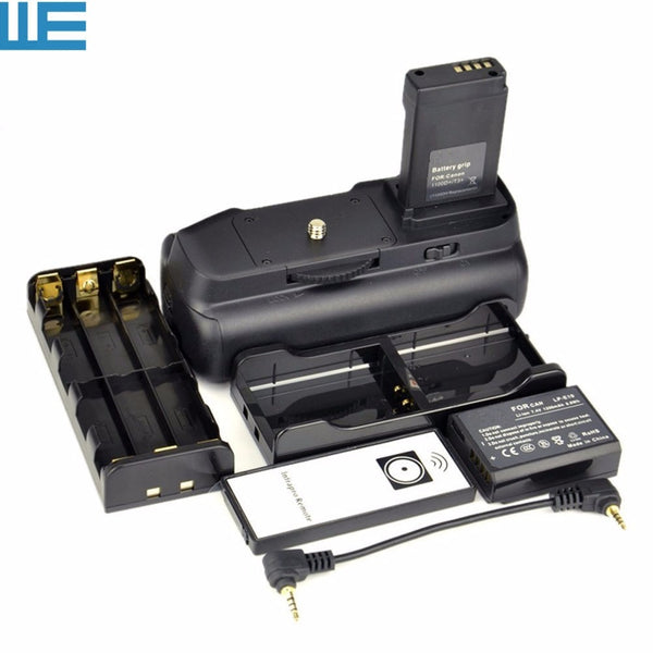 Battery Grip+IR Remote Control+6 AA Battery Holder+LP-E10 Battery Hold+LP-E10 for EOS Rebel 1100D 1200D 1300D 2000D T6 Kiss X50
