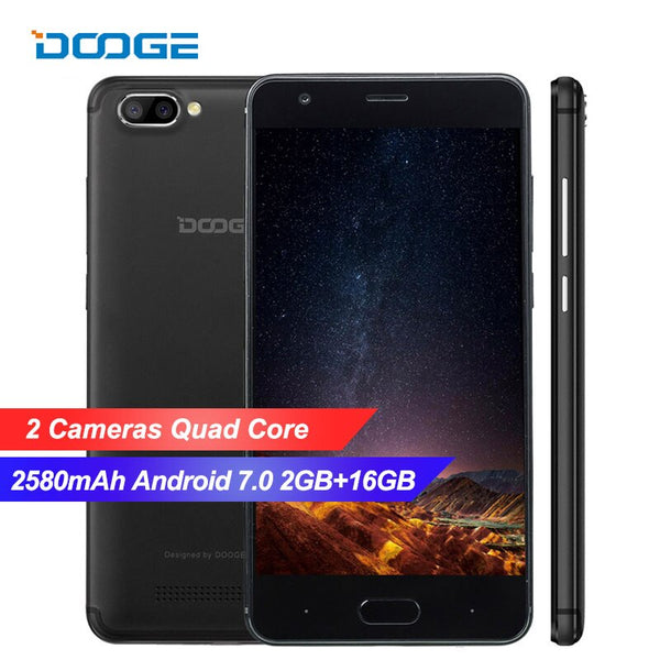 DOOGEE X20L 4G LTE Smartphone Android 7.0 2GB RAM 16GB ROM MTK6580 Quad core Dual back Camera 2580mAh 5.0 Inch GPS Mobile phone