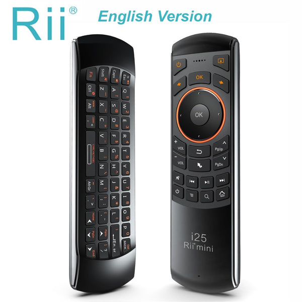 Rii mini i25 English Keyboard Fly Mouse Remote Control with Programmable Key For Smart TV Android TV Box Fire TV