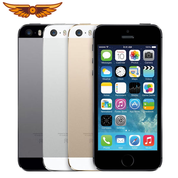 Apple iPhone 5S Dual Core 16GB/32GB/64GB ROM 1GB RAM 8MP Camera IOS Touch ID Factory Unlocked Original Cellphone