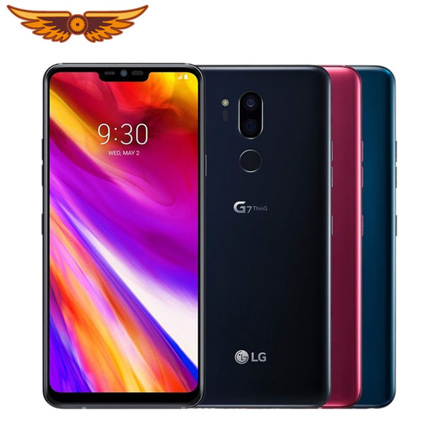 Original LG G7 ThinQ 6.1 Inches Octa Core 4GB RAM 64GB ROM LTE 4G 16MP Dual Rear Camera 1440 x 3120 Android Unlocked Cellphone