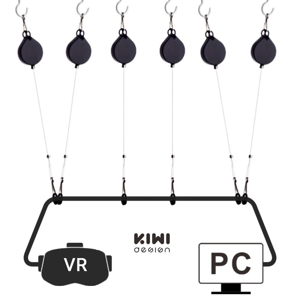 KIWI design VR Cable Managment Pulley System for HTC Vive/Vive Pro Virtual Reality/Oculus Rift/PS VR