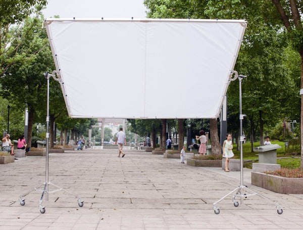 2.4x2.4m 8'x8' 8x8 Butterfly Frame Detachable Kit + Photo Diffusion White Silk + Bag light modifying
